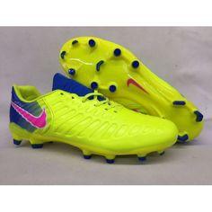 Promoção de Chuteira Campo Nike Tiempo Legend VII Campo FG Homens Amarelo  Azul Rosa 9493ac37eefc3