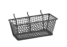 Bulldog 131594 Wire Mesh Basket with Peg Hooks Black Small by Bulldog. $5.06. From the Manufacturer                The Bulldog 131594 Wire Mesh Basket with Peg Hooks Black Small allow for storage ofsmall parts, tools and any range of small miscellaneous supplies. Baskets are designed to easily hang on pegboard panels or can be set on any flat surface for workspace mobility and convenience.                                    Product Description                Th...