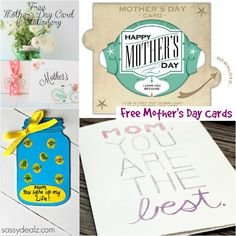 Free Printable Mother's Day Cards #MothersDay