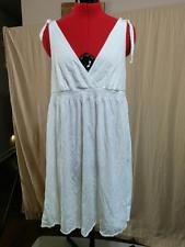 100s of Items on SALE! WITH FREE SHIPPING!  Pure White Cotton Knit Sundress Adjustable Tie Shoulders Empire Waist Size M  | eBay
