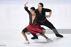 News Photo : Kana Muraoto and Chris Reed of Japan compete in...