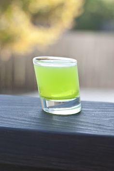 BMW (1/3 oz creme de banana 1/3 oz melon liqueur 1/3 oz watermelon vodka)