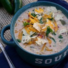 Crockpot Spicy White Chicken Chili - AMAZING on a cold Winter's night!!! :)