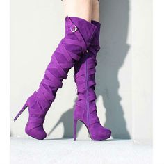 EDITOR'S NOTE Wrap Around Strappy Thigh High Heel Boots Be Super cool with those amazingly stylish boots! Available to buy in multiple colors. Top Discount Deal…