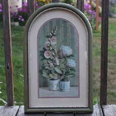 HOMCO Home Interiors Gladiolus and Hydrangeas Flowers x Green and Ivory Framed Floral W Wall Decor Pictures, Print Pictures, Hydrangea Flower, Hydrangeas, Flowers, Home Interiors And Gifts, Glass Votive Holders, Gladiolus, Retro Home