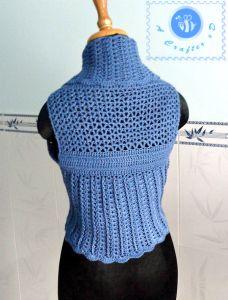 Crochet shawl cir-collar vest - Maz Kwok's Designs