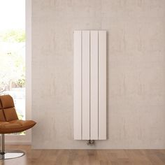 The Aurora white vertical designer radiator will add contemporary style to any interior Vertical Radiators, Radiator Valves, Hudson Reed, Cast Iron Radiators, Window Types, Designer Radiator, Types Of Rooms, Lounge Decor, Wall Spaces