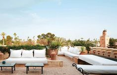 In a corner of Marrakech's medina, Bernard-Henri Lévy has restored and expanded the Palais de la Zahia—a place to retreat to with his wife, Arielle Dombasle, while communing with the riad's storied past Diy Pergola, Pergola Plans, Pergola Kits, Corner Pergola, Pergola Cover, Moroccan Design, Moroccan Style, Rome Apartment, Palace