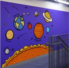Sistema solar                                                       … Space Projects, Science Projects, School Projects, Solar System Projects, Our Solar System, Vbs Crafts, Preschool Crafts, Classroom Displays, Classroom Decor