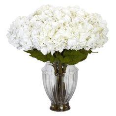 Silk Flowers -Large Hydrangea With European Vase Flower Arrangement Artificial Plant Peonies Centerpiece, Rose Centerpieces, Silk Floral Arrangements, Artificial Flower Arrangements, Artificial Flowers, Centerpiece Ideas, Faux Flowers, Silk Flowers, Fabric Flowers