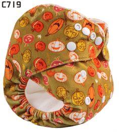 Halloween pumpkins Happy Flute Baby Printed Minky Cloth Diapers US$6.99