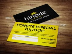 Cartões de visita - Hinode 2 - Store R3