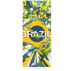 """East Urban Home World Cup 'Brazil' Graphic Art Print on Metal Size: 20"""" H x 16"""" W x 1"""" D"""