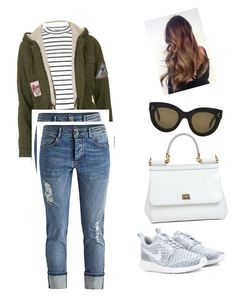 """""""Casual"""" by yekshuxian ❤ liked on Polyvore featuring Topshop, NIKE, CÉLINE, Dolce&Gabbana, women's clothing, women, female, woman, misses and juniors"""