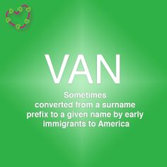 Meaning of the name Van Letter Games, Name Games, What Is Your Name, Prefixes, Names With Meaning, Surnames, Meant To Be, How To Find Out, Van