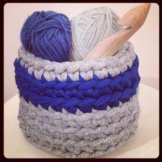 Cesto de trapillo. Lady Crochet