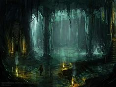62 Ideas Concept Art Fantasy World Temples Fantasy City, Fantasy Kunst, Fantasy Places, High Fantasy, Fantasy World, Examples Of Concepts, Underground Cities, Fantasy Concept Art, Concept Art World