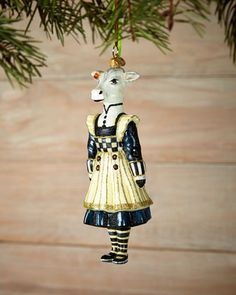 Molly Christmas Ornament by MacKenzie-Childs at Horchow.