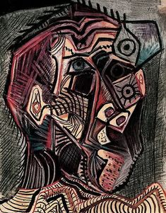 """Pablo Picasso - """"self-portrait"""", 1972Pablo Picasso - More Pins Like This At FOSTERGINGER @ Pinterest"""