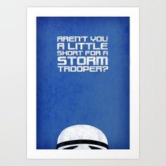 Tiny Trooper Art Print by Rubbishmonkey - $16.00