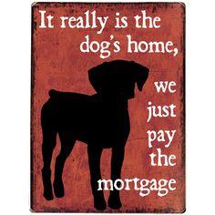 Dog's Home Wall Decor