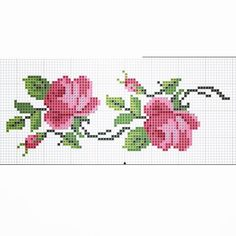 Cross Stitch Cards, Cross Stitch Rose, Cross Stitch Flowers, Cross Stitching, Cross Stitch Patterns, Flower Phone Wallpaper, Types Of Embroidery, Embroidered Bag, Bargello