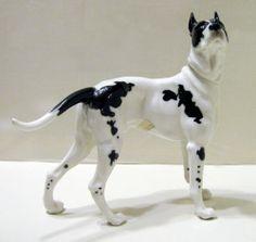 Very RARE Hutschenreuther Great Dane Porcelain Dog Figurine 7 x 9 Kunstabteilung