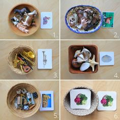 6 Montessori Zuordnungsspiel-Ideen mit Karten zum Downloaden