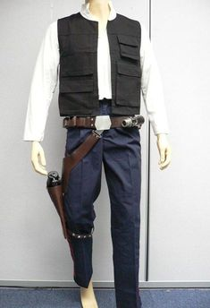 han solo vest | Han Solo full costume with Shirt, Vest, Striped trousers, and belt ...
