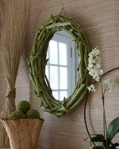 twigmirror by m74reeves, via Flickr | from budget decorating magazine