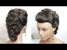 Bridal Updo With Twists. Hairstyle For Long Hair Tutorial - YouTube