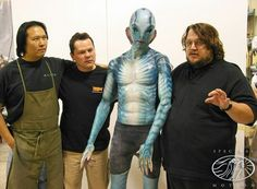 Michael Key I'm pumped to announce that Mike Elizalde and his department heads from Spectral Motion will be sharing their design and production process as a panel discussion at IMATS LA Hellboy 2004, Abe Sapien, Michael Key, Practical Effects, Fantasy Make Up, Monster Costumes, Dress Up Boxes, Special Effects, Film Industry