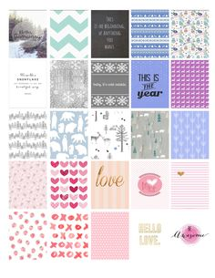 January & February Erin Condren planner Stickers