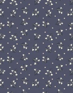 Gray Blue Floral Fabric, Lewis and Irene Enchanted Forest LEI 3 Snowdrops, Midnight Blue, Flower Quilt Fabric, Cotton Fabric Patterns, Flower Patterns, Print Patterns, Motif Floral, Floral Prints, Floral Fabric, Cotton Lawn Fabric, Small Space Interior Design, Pattern Illustration