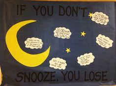 Sleep habits, simple, easy, bulletin board, RA, Reslife