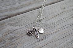 Silver Princess Charm Necklace, Fairytale Princess Necklace, Disney Princess Necklace, Beauty & the Beast, Cinderella, Snow White