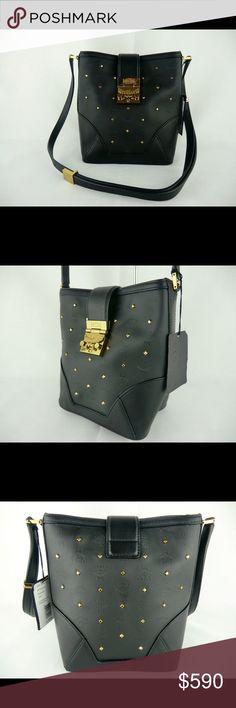 4508d5a071fc3 MCM Claudia Studs Mini Black Shoulder Bag