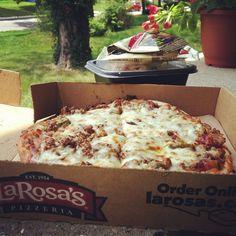 """Nothing like Larosas for lunch :) #spicyhot #pizza #cincinnati  Photo by sarahmariepatton"