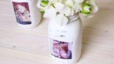 Turn a Mason Jar into Shabby Chic Photo Frames