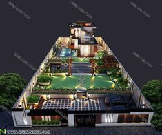 طراحی-و-ساخت-ویلا Modern Villa Design, Landscape Design Plans, Home And Garden, Exterior, House Design, House Styles, Villas, Architecture, Home Design
