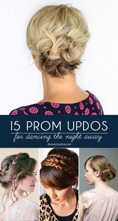 Prom season is officially here! Fall in love with one of these 15 pretty updos. #Prom #PromHair