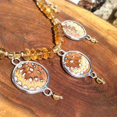 SALE - Fritillary and Citrine Butterfly, Bracelets, Jewelry, Bangles, Jewlery, Jewels, Bracelet, Jewerly, Bowties