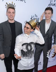 Moises Arias, Gabriel Basso and Nick Robinson at event of The Kings of Summer