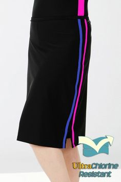 Long, modest running skirt with built-in shorts $84. Chlorine proof and can also be used for swimming.