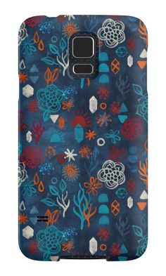 """Earth, Water, Fire, Air - a watercolor pattern"" Samsung Galaxy Cases & Skins by micklyn 