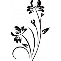 sticker fleur papillon