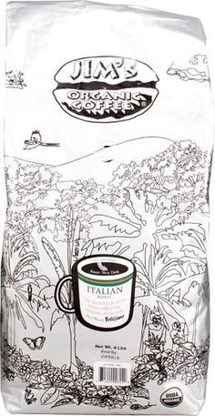 Jims Organic Coffee Coffee Italian Roast Organic 4 Lb >>> See this great product. (This is an affiliate link and I receive a commission for the sales)