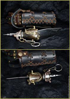 Нож Небесный капитан стимпанк - нож,Нож ручной работы,ролевые игры,косплей