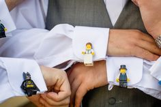 & Unique Musical Wedding With A Swan Lake Bride lego cufflinks for the groom and groomsmen!lego cufflinks for the groom and groomsmen! Lego Wedding, Wedding Pins, Wedding Blog, Wedding Events, Wedding Styles, Wedding Planner, Our Wedding, Dream Wedding, Wedding Ideas