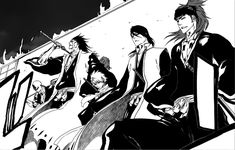 Renji, Byakuya, Toshiro, Kenpachi, Ikkaku